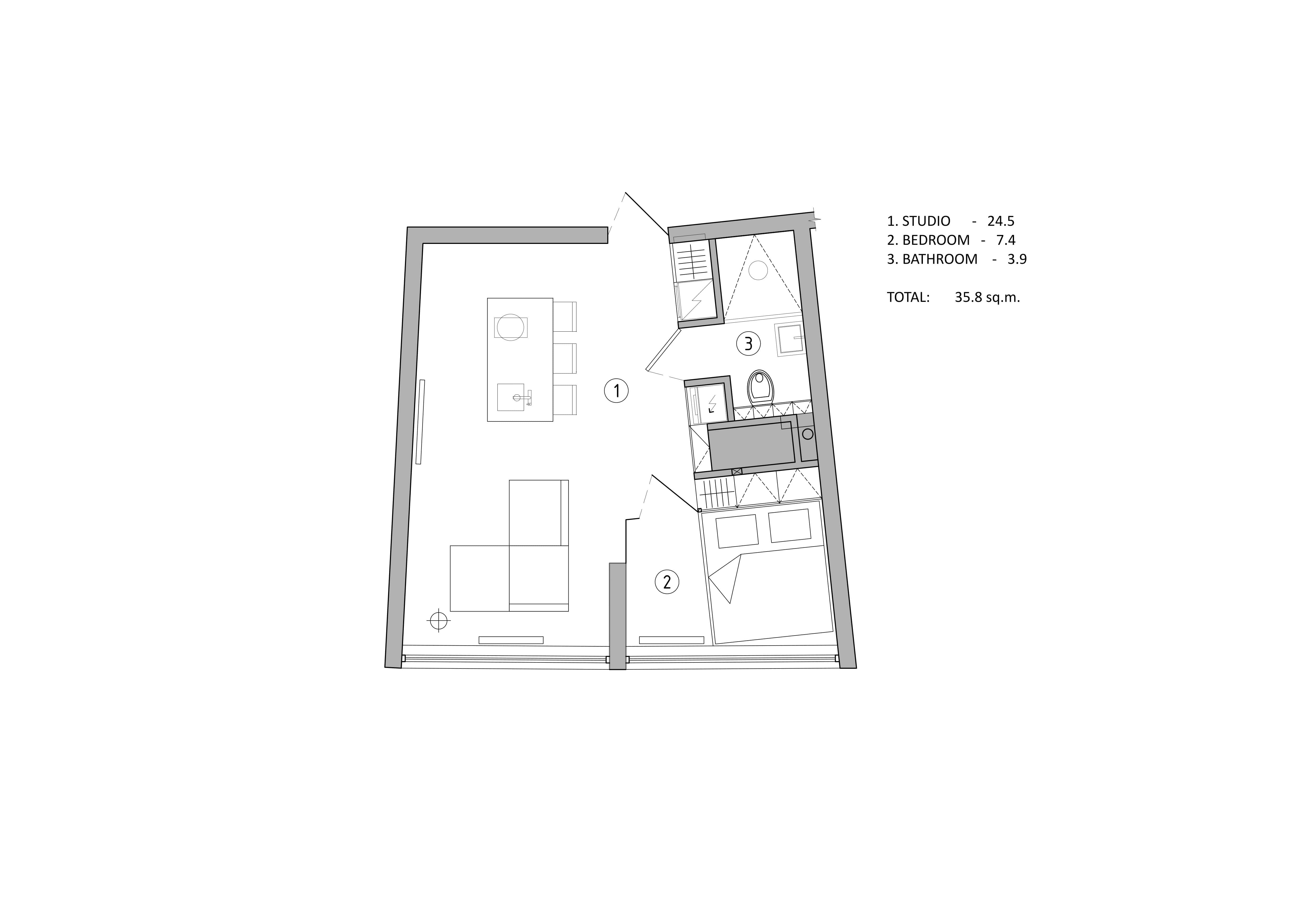 plan of the small apartment