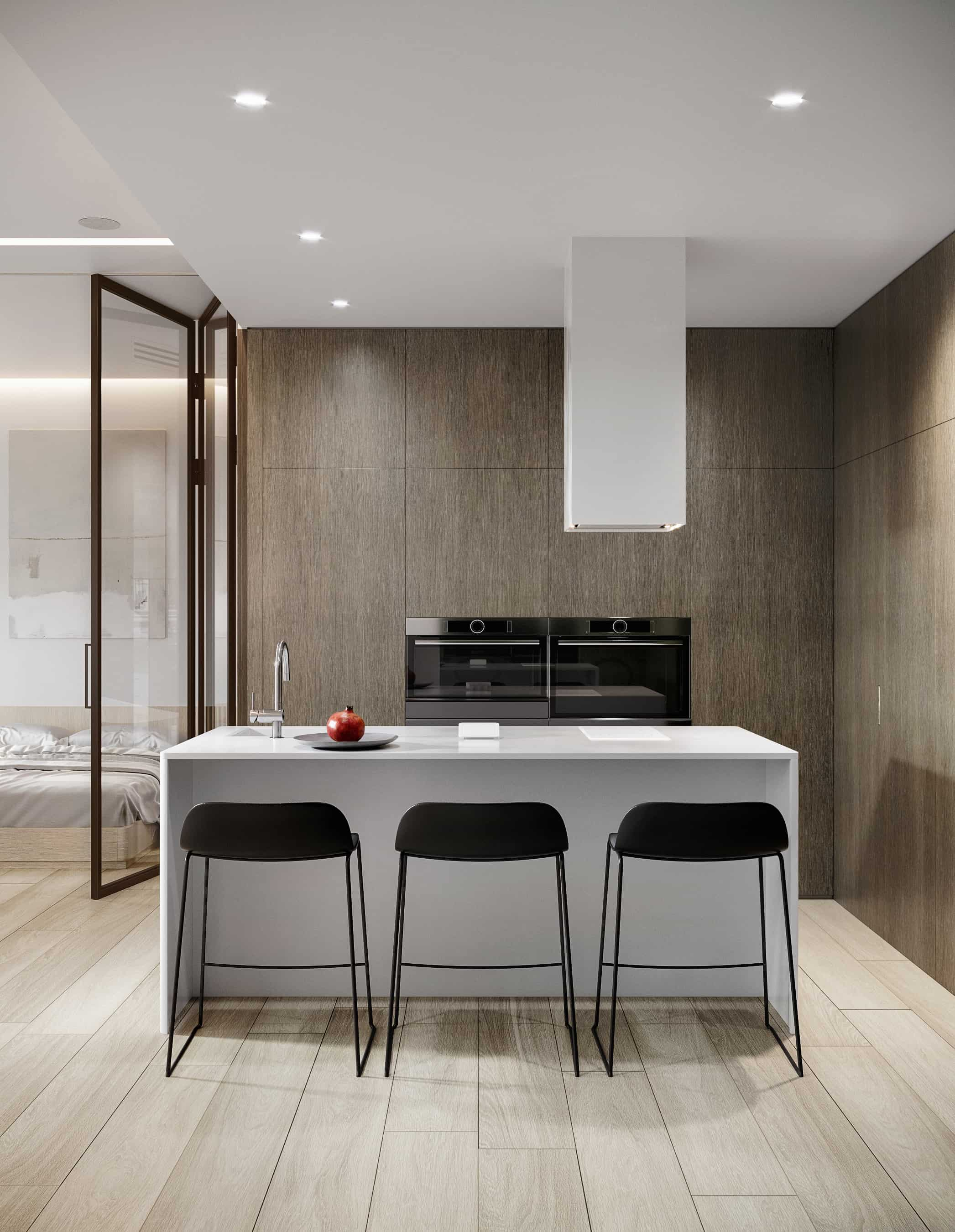 cozy modern kitchen island design dark wood