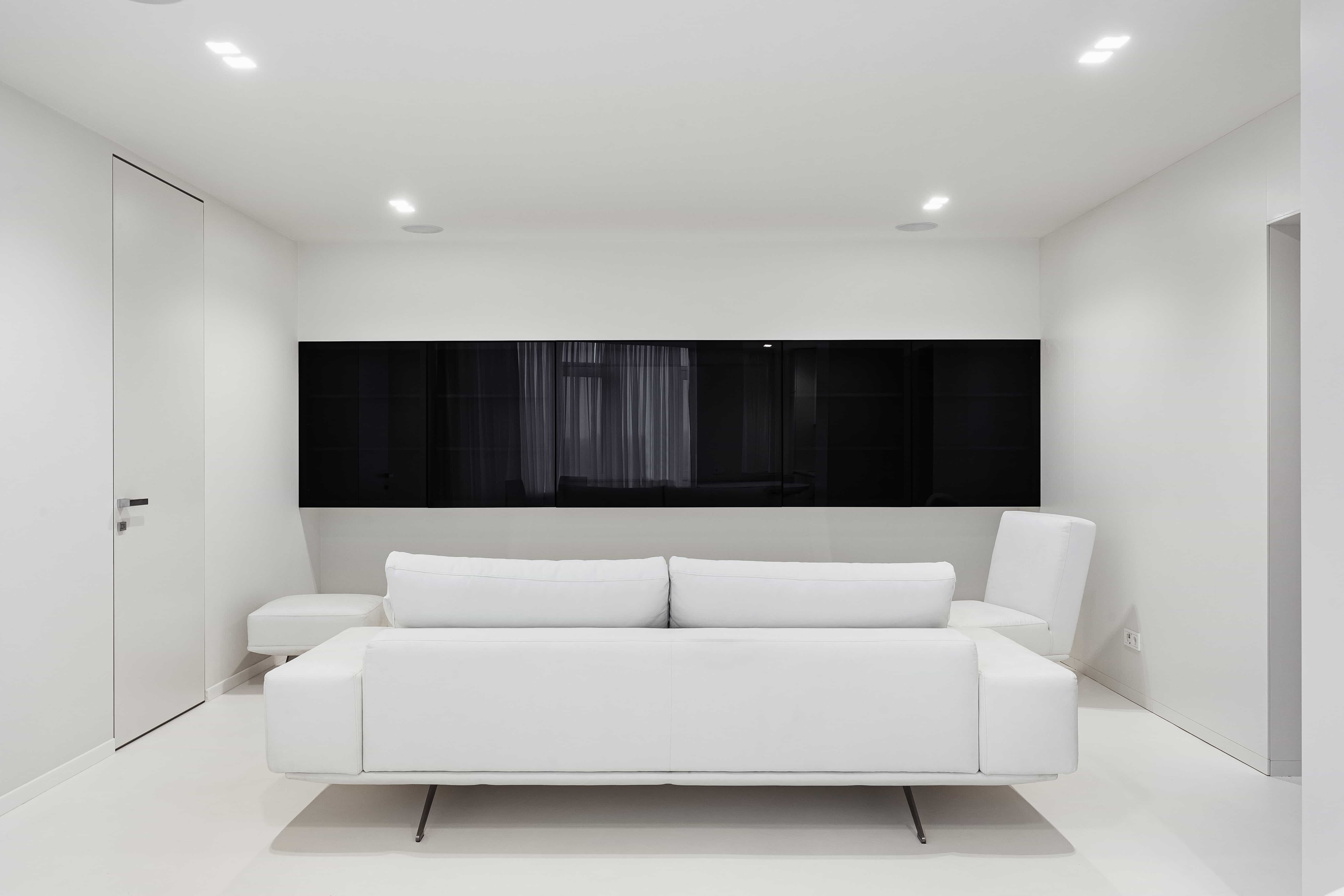 minimalist white apartment  interior design